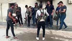 Teröristlerin sivil kıyafet oyunu kameraya yansıdı