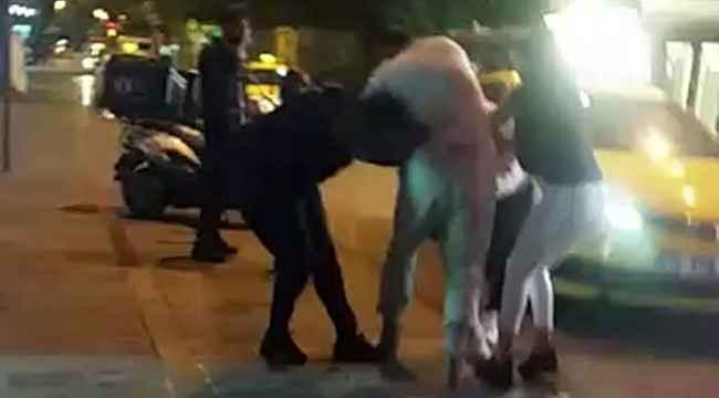 Yabancı uyruklu iki kadın saç saça baş başa kavga etti