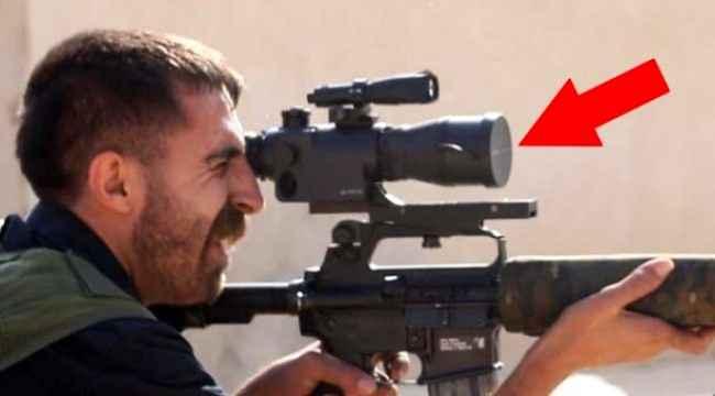 YPG'li teröristin Amerikan silahıyla imtihanı
