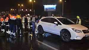 11 otomobilin birbirine girdiği zincirleme trafik kazası!