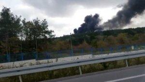 Askeri alanda çıkan orman yangını kontrol altına alındı