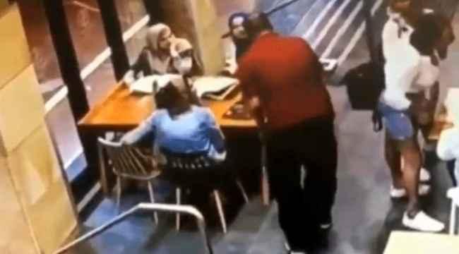 Başörtülü hamile kadına çirkin saldırı