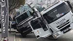 Bursa'da ilginç görüntü! Milyonluk lüks cipi kaldırmayan isteyen çekici yan yattı - Bursa haberleri