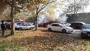 Bursa'da mangal kömürü iki arabayı kül etti - Bursa Haberleri