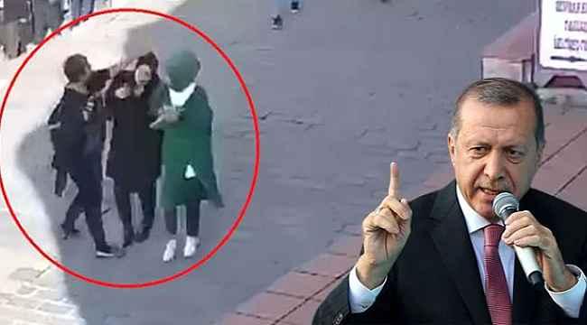 Cumhurbaşkanı Erdoğan, başörtülü kadınlara saldıranlara tepki gösterdi,