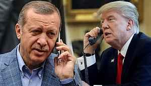 """Cumhurbaşkanı Erdoğan: """"Trump ile verimli bir telefon görüşmesi gerçekleştirdik"""""""