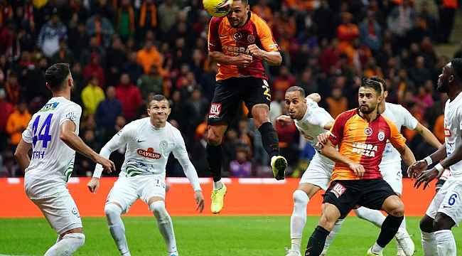 Galatasaray sahasında galip geldi