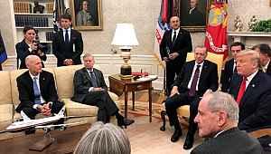 Graham, Erdoğan ve Trump'ın karşısında bacak bacak üstüne atarak oturdu