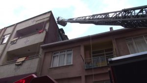 İstanbul'da 4 katlı binada yangın paniği