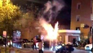 Magandalar doğum günü bahanesiyle trafikte terör estirdi
