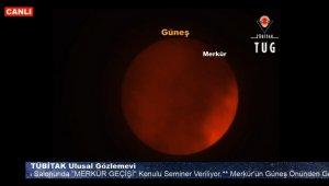 Merkür'ün Güneş önünden geçişi başladı