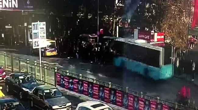 Otobüsün durağa daldığı dehşet anlarının görüntüsü ortaya çıktı