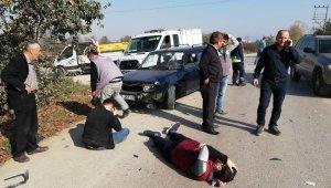 Otomobil ile motosiklet kafaya çarpıştı - Bursa Haberleri