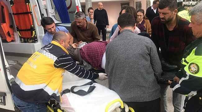 Otomobil kaldırımda yürüyen yayaya çarptı - Bursa Haberleri