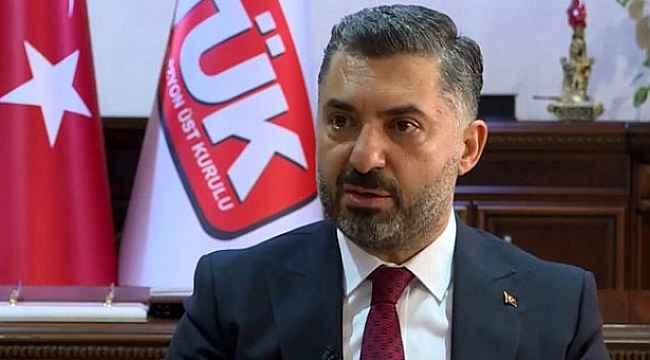 RTÜK Başkanı Ebubekir Şahin, TÜRKSAT'tan istifa ettiğini açıkladı