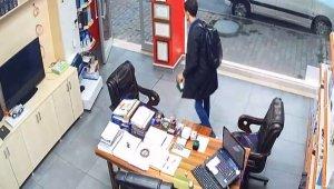 Sadaka kutusunu çalan hırsız kameralara yakalandı