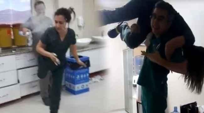 Skandal... Hastane acilinde doktor ve hemşirelerden köpük partisi