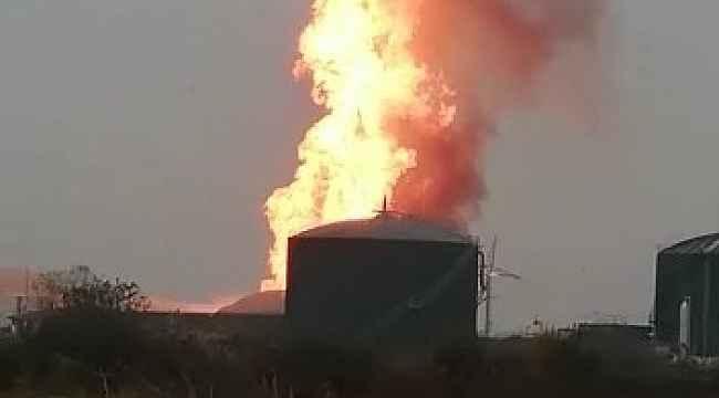 Sütaş fabrikasında ineklerin gübresinden biriken metan gazı yanmış - Bursa Haberleri