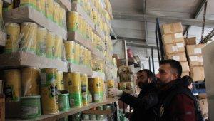 500 bin TL değerindeki kaçak ürünlerin bulunduğu depoya operasyon