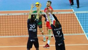 Avrupa Erkekler CEV Kupası: Arkas: 3 - Dinamo Bükreş: 1