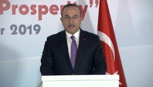 """Bakan Çavuşoğlu: """"Teröristler bilsinler ki yok etmeye devam edeceğiz"""""""
