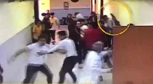 Bayrampaşa'da okulda öğrenci kavgasında ortalık karıştı! Silah sesi duyuldu!