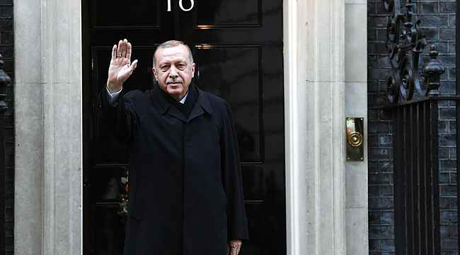 Cumhurbaşkanı Erdoğan Downing Street'te