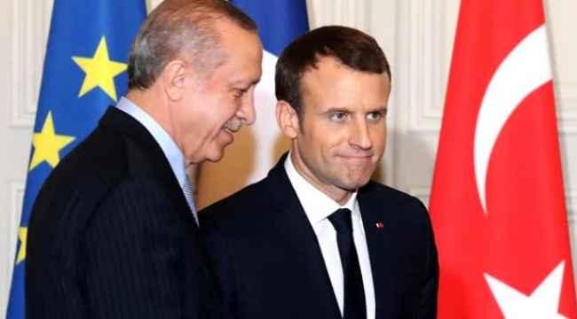 Cumhurbaşkanı Erdoğan'ın sorusu Macron'a zor anlar yaşattı