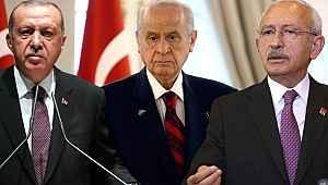 Erdoğan, Bahçeli ve Kılıçdaroğlu'na büyük fark attı