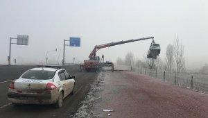 Erzurum'da otomobil uçuruma yuvarlandı: 2 yaralı