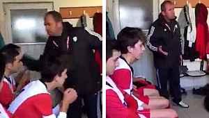 Futbolcularını döven antrenörün cezası onandı