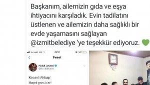 Haluk Levent ve AHBAP'tan İzmit Belediyesi'ne teşekkür