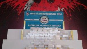 Kocaeli'de 2 bin 400 paket elektronik sigara tütünü ele geçirildi