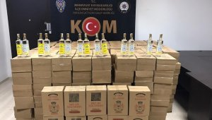 Manavgat'ta sahte ve kaçak içki operasyonu
