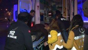 Motosikletiyle kaza yapan sürücü ağır yaralandı