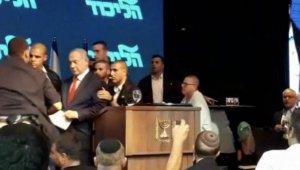 Roket sirenleri çaldı, Netanyahu sığınağa indi