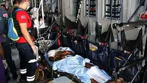 Somali'de hayatını kaybeden 2 Türk'ün cenazeleri ile 16 yaralı Türkiye'de