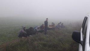 Tekirdağ'da 16 kaçak göçmen yakalandı
