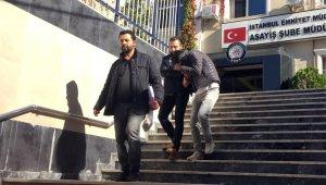 Televizyon çalan hırsızlar önce kameraya sonra polise yakalandı