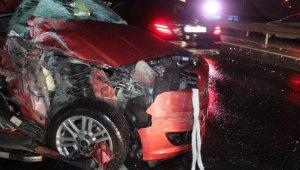 TEM Otoyolu'nda feci trafik kazası: 1 ölü, 5 yaralı