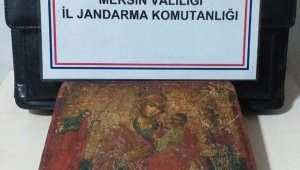 11 ila 13. yüzyıllara ait Hz. İsa ve Hz. Meryem figürlü ikon ele geçirildi!
