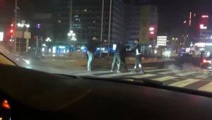 Başkent'te 'yarış' kavgası