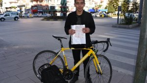 Bisikletiyle kırmızı ışıkta geçti, 420 TL ceza yedi