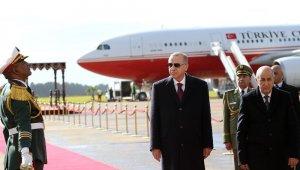 Cumhurbaşkanı ikili görüşmeler durağında için Erdoğan Cezayir'de