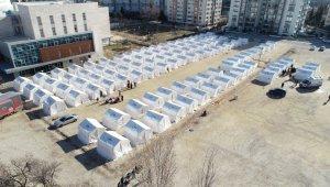 Elazığ'da yeni çadır kentler kuruldu