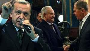 Erdoğan'dan masadan kaçan Hafter'e sert sözler,