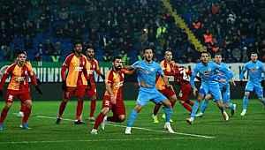 Galatasaray, Çaykur Rizespor ile 1-1 berabere kaldı