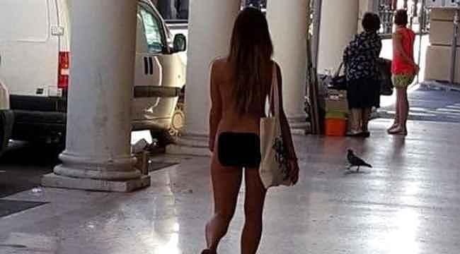 'Giyinmek istemiyorum' diyen kadın sokak ortasında çırılçıplak gezdi