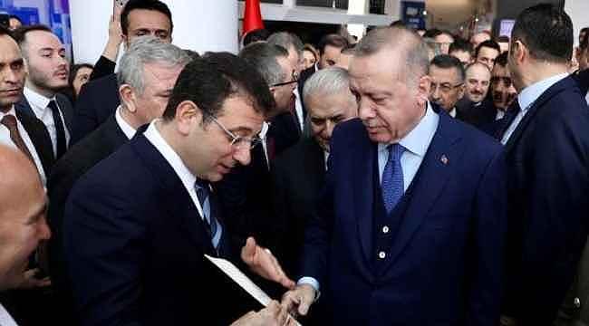 İmamoğlu, Cumhurbaşkanı Erdoğan'a Kanal İstanbul'la ilgili mektup verdi