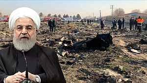 İran Cumhurbaşkanı Ruhani'den yanlışlıkla füze ile düşürülen yolcu uçağıyla ilgili zehir zemberek açıklama!